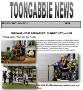 Read more about the article Autumn 2021 Toongabbie News now available
