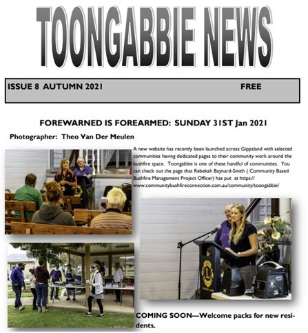 You are currently viewing Autumn 2021 Toongabbie News now available
