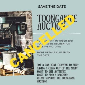Read more about the article CANCELLED Toongabbie Auction 2021
